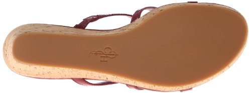 Cole Haan Womens Shayla Thong Wedge Sandal Raspberry Patent 3FBubC