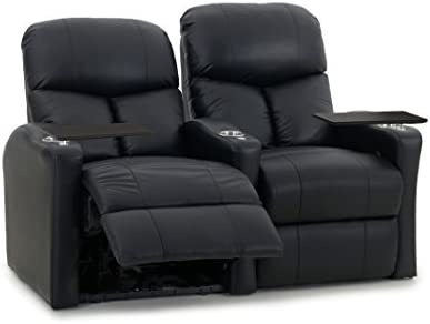 Octane Seating Octane Bolt XS400 Motorized Leather Home Theater Recliner Set Row of 2
