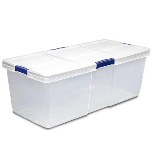 Verified Exchange (1 Bin) 100 Quart Hefty White Storage Bin - 36'' L x 16.8'' W x 13.2'' H by Verified Exchange