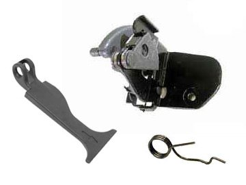 Mercedes w203 Hood Safety Hook latch KIT +handle (Hood Latch Springs)