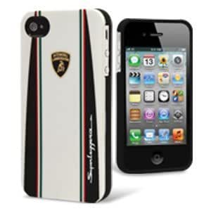 MOBO LB-UVMIP4-SUD1-WE Lamborghini Cell Phone Case - 1 Pack - Retail Packaging - White