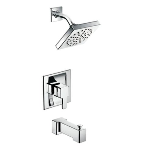 90 Degree PosiTemp Tub and Shower Trim Kit without Valve, Chrome - Moen TS2713
