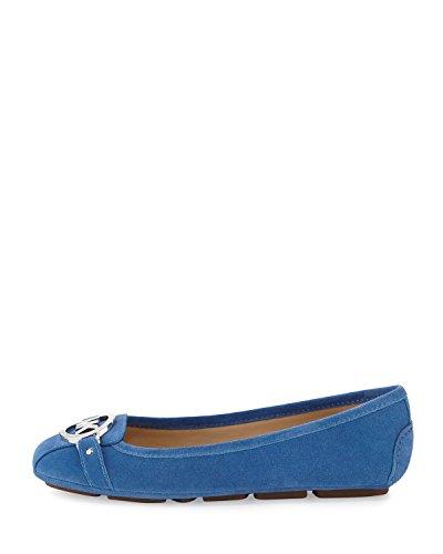 MICHAEL Michael Kors Women's Fulton Moc Vintage Blue Sport Suede Flat 9.5 - Michael Kors Vintage