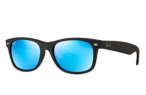 Amazon.com: Ray-Ban NEW WAYFARER - RUBBER BLACK Frame GREY MIRROR ...