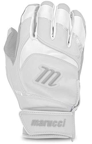 Marucci Adult Signature Baseball Batting Gloves, White, X-Large ()