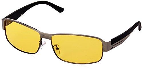 Mens Womens Night View Vision Driving Anti-glare TAC Polarized Glasses 65mm (gungrey (Anti Glare Driving Glasses)