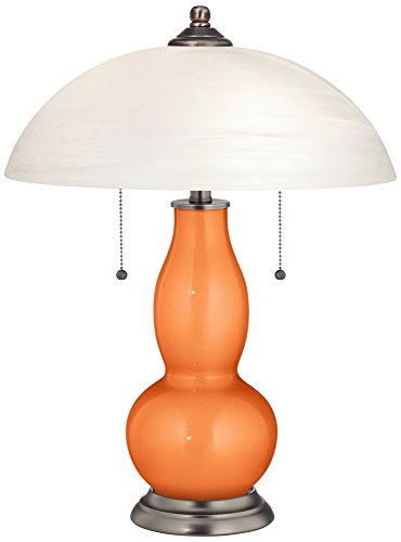 c Gourd-Shaped Lamp with Alabaster Shade ()