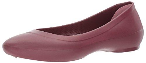 Crocs Ballet Marrón de Zapatillas Linaflatw Garnet Mujer qqxHv0P