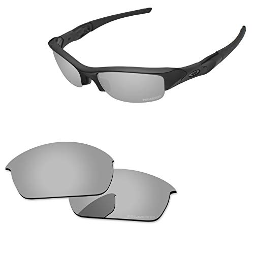 PapaViva Lenses Replacement for Oakley Flak Jacket Chrome Silver - Polarized