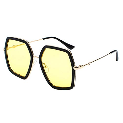 (XBKPLO Women Men Polarized Eyes Sunglasses Retro Square Oversized for Driving Fashion UV400 Vintage Eyewear Trendy Colors)