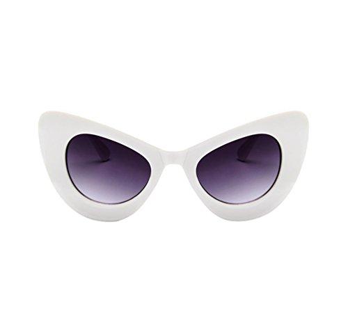 Vue La Soleil Cat Femme Blanc Eye De Ketamyy Mode À Cadre Lunettes Lunette Tendance Sauvage Gris Cadre Papillon qE06UwxFYF