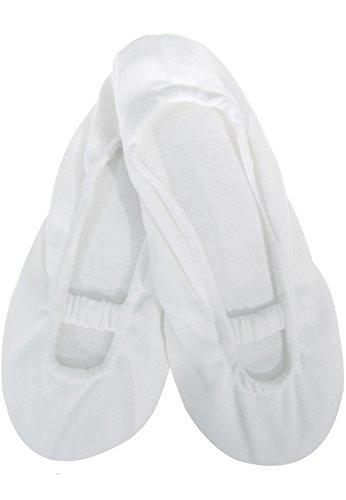Bequeme Baumwoll Hausballerinas/Hausschuhe/Peds,white,35/38