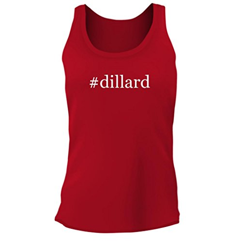Tracy Gifts  Dillard   Womens Junior Cut Hashtag Adult Tank Top  Red  Large