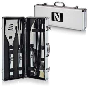 NCAA Northwestern Wildcats Fiero 5-Piece BBQ Tool Set With Case