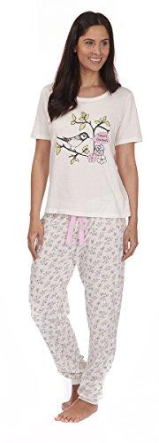 Varsani Clothing - Pijama - para mujer crema