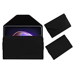 Acm Premium Flip Flap Pouch Case Compatible with Vivo V21 Mobile Leather Cover Black