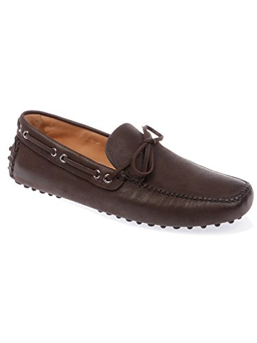 Car Shoe Men's 3AI0CAPRAANT4F0192 Brown Leather Loafers A1FEpkQxSR