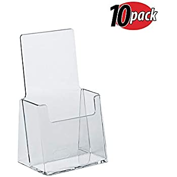 Desk Accessories & Organizer Card Holder & Note Holder New Fashion Promotion Four Pockets Clear Desktop Office Counter Acrylic Business Card Holder Stand Display Fit For Office School Best Possessing Chinese Flavors