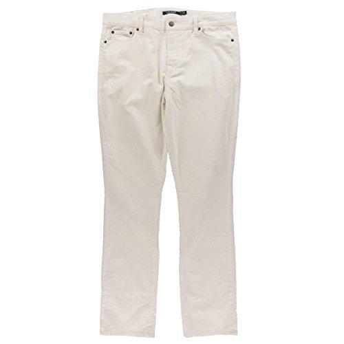 Cream Corduroy Pants - Lauren Ralph Lauren Womens Corduroy Straight Fit Corduroy Pants Ivory 14