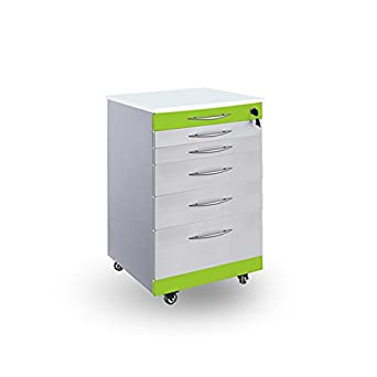 Stainless Steel Dental Cabinet Mobile Medical Cart With 5 Drawers Lab  Storage Supply