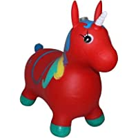 Aafiya Jumping Horse (Inflatable Space Hopper, Jumping Horse - 12 cm (Red)