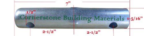 28 Scaffolding Coupling Pin 1-5/16''OD x 7''L without Collar Scaffold CBM1290