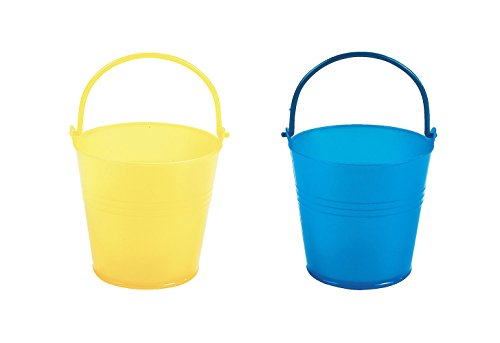 Maven Gifts Set of 12 Fun Express Bright Yellow Pails and Set of 12 Fun Express Bright Blue Pails bundled by