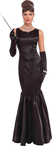Women's 20's Hollywood Fancy Dress Party Costume High Society Long Black (High Society Dress Costume)