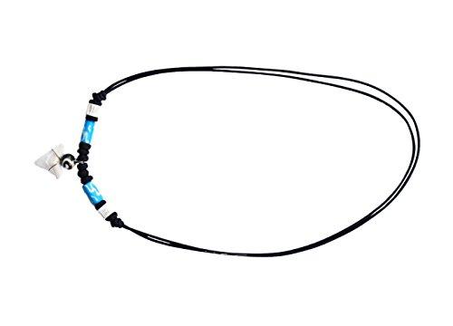 [Romario Groomsmen - Genuine Shark Tooth Necklace Surfer Hawaiian Beach Boys Girls Men (Blue)] (Baby Doll In Box Costume)