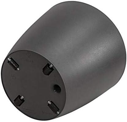 44 cm de di/ámetro Sistema de autorriego Color Negro Elho