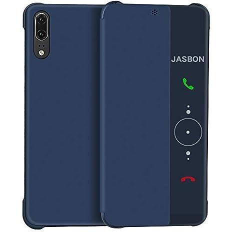 JASBON Coque Huawei P20 Pro, étui Cuir avec Rabat de Protection Complète, Coque Anti Choc Souple pour Huawei P20 Pro: Amazon.fr: High-tech