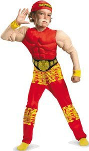 Disguise Impact Wrestling Hulk Hogan Classic Muscle Boys Costume, Large/10-12