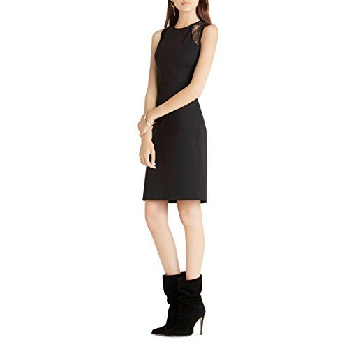 BCBGeneration Women's Sleeveless Sheath Dress with Lace Detail