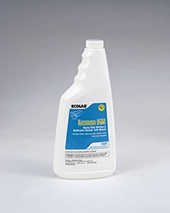 ECOLAB LEMON LIFT HEAVY DUTY KITCHEN BATHROOM CLEANER WITH BLEACH 12 PACK