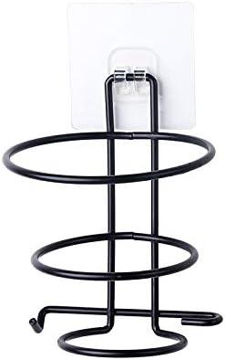 11 6,5 cm,Chrom Blingbin Wandmontierter F/ür Badezimmer Haartrocknerhalter,aufbewahrung F/önhalter Spiralst/änder,befestigen Ohne Bohren,12