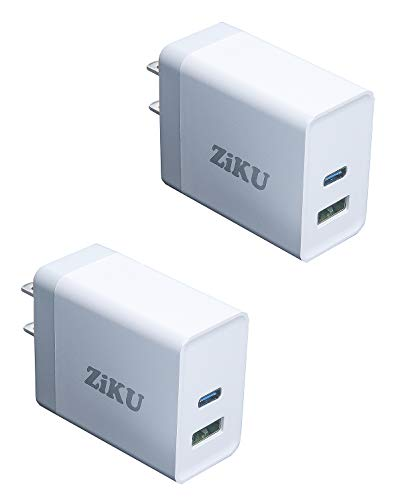 30W USB C Charger [2 Pack] ZIKU Dual Port iPhone Fast Charger Power Adapter PD Charger for iPhone 12/12 MINI/12 Pro/12 Pro Max, MagSafe Duo, 11/11 Pro/Max/XR/XS/X, Galaxy S20/ S10, iPad Pro and More