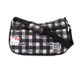 Hello Kitty Messenger Bag: B&W Check (B&w Check)