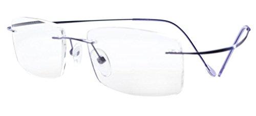 Eyekepper Titanium Rimless Reading Glasses Readers Women Purple ()