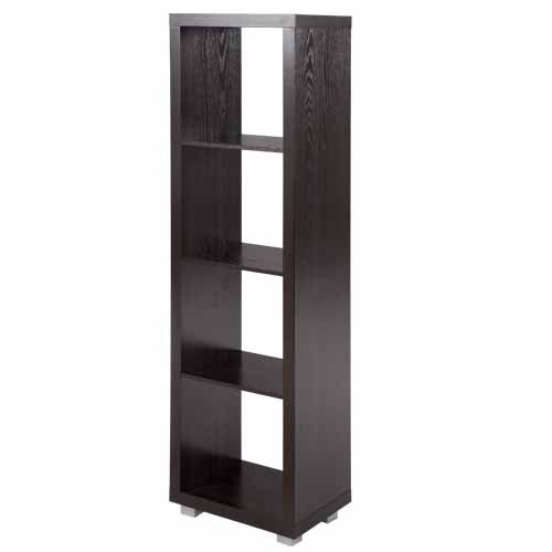 4 Shelf Contemporary Bookcase - 4