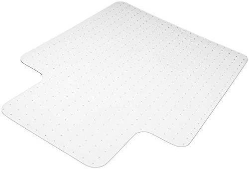 Heavy Duty Carpet Chair Mat Polycarbonate Crystal Clear Thick and Sturdy For Low and Medium Pile Carpets