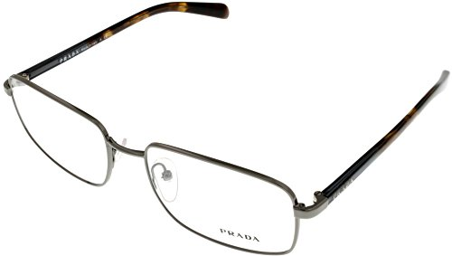 Prada Unisex Prescription Eyeglasses Frame PR51NV 9AH101 Shiny Gunmetal Tortoise -