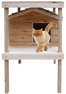 3. CozyCatFurniture Large Outdoor Cat House