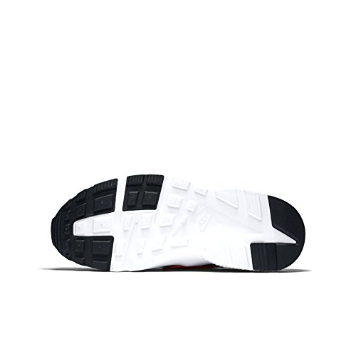 nike huarache run (GS) trainers 654275 sneakers shoes Black/Crimson a0wEQ