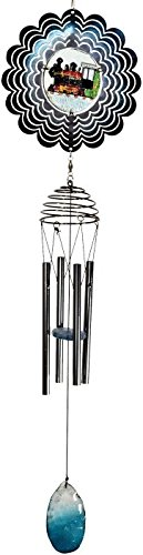 """StealStreet 800505 28"""" Metal Spinner Wind Chime with Poly..."""