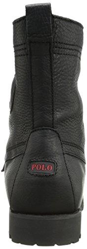 Polo Ralph Lauren Mens Ranger Boot, Nero, 12 Giorni