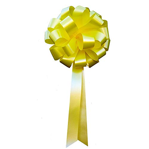 (Yellow Pull Bows with Tails - 8