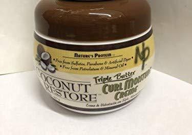 Nature's Protein Coconut Restore Triple Butter Curl Moisture Creme, 8 ()
