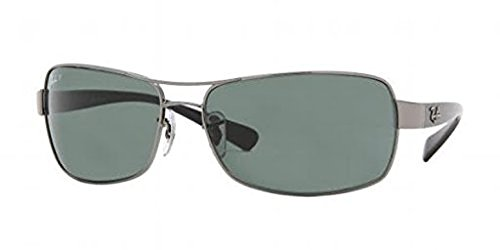 Ray-Ban Undercurrent RB 3379 Sunglasses Gunmetal / Crystal Green Polarized 64mm & HDO Cleaning Carekit - Rayban 3379