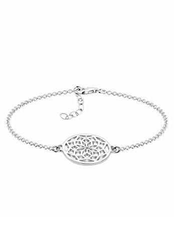 Elli Damen-Armband Ornament Lebensblume Floral 925 Silber 17 cm - 0211912415_17