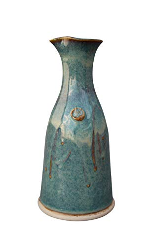 Wine Decanter Hand-Thrown Hand-Glazed in Ireland. Original Design Pottery Carafe 600ml Volume- 8 Inches Height with Celtic Spiral Symbol (Best Castles In Ireland)